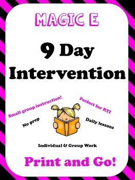 Magic E Intervention RTI Small Group Plans, NO PREP