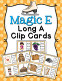 Magic E Long A Words Clip Cards