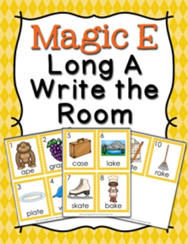 Magic E Long A Write the Room