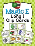 Magic E Long I Words Clip Cards