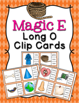 Magic E Long O Words Clip Cards