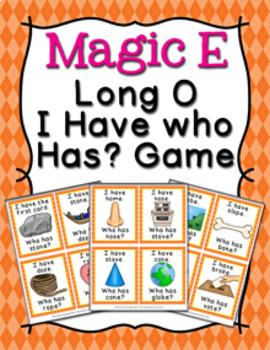 Magic E Long O Words I Have Who Has? Game
