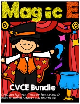 CVCE Printables and Centers Bundle!