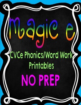 Magic E {Long Vowel CVCe Phonics/Word Work Printables}