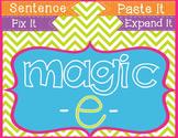 Magic E Long Vowels Cut & Paste Sentences