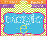 Magic E Long Vowels Cut & Paste Sentences