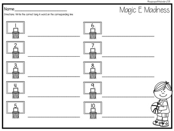 Magic E Madness with Recording Sheet