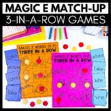 Magic E Match-Up - 3 in a Row Games - Kindergarten Literac