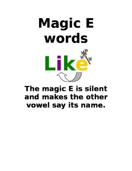 Magic E Poster - Two Vowels go Walking Poster