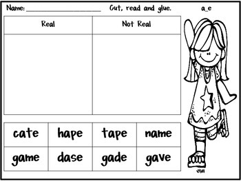 Magic E Practice in a Pinch {Printables for CVCe Real and Nonsense words}