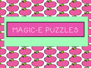 Magic E Puzzles -Orton Gillingham