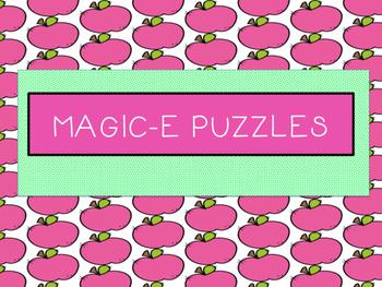 Magic E Puzzles -Orton Gillingham