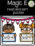 Magic E Read and Sort Puzzles