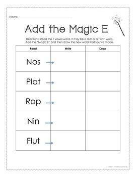 Magic E *Read*Write*Draw* PACKAGE