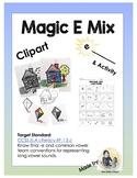 "Magic E, CVCe and ""EE"" Clipart + Activity"