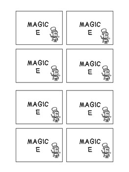 Magic E SWISH card game!