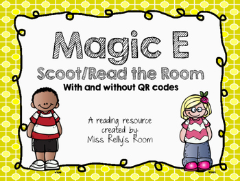 Magic E Scoot Task Cards with and without QR codes