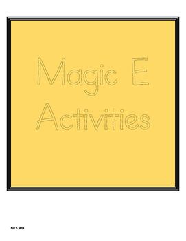 Magic E - Silent E Activities
