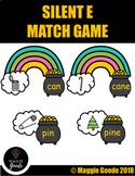 Magic E, Silent E, Bossy E, CVC to CVCE Game-St. Patrick's