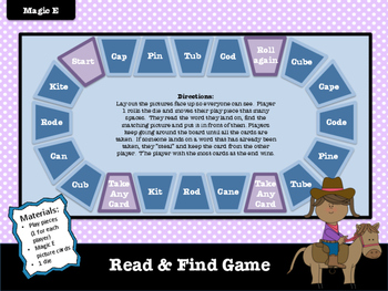 Magic E Sort and Games (freebie)