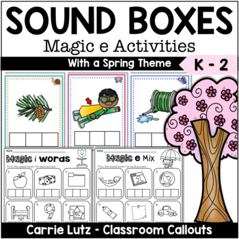 Magic E Sound Boxes with Practice Pages {Spring Theme}