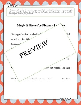 Magic E Story