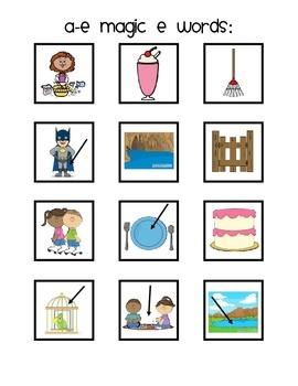 Magic E Story Jar and Sentences: a_e