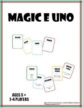 Magic E (CVCe) DRAW (Similar to UNO)