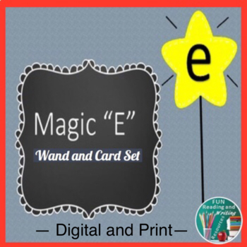 Magic E Wand and Cards Set