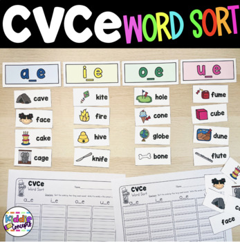 Magic E Word Sorts Long A, I, O, U