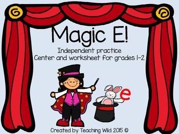 Magic E Word Work Activity