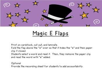Magic E: Word Work Center Activities