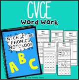 Magic E (cvcE) Word Work - Interactive Phonics Notebook