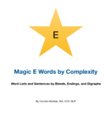 Magic E Words and Sentences by Complexity (Simple, Blends,