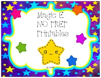 Magic E (a_e) No Prep Printables
