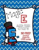 Magic E and the CVCe's ~ No Prep Printables