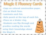 Magic E fluency Cards (CVCe)