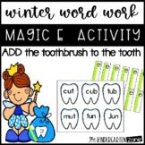 Word Work Magic E for Winter~dental theme