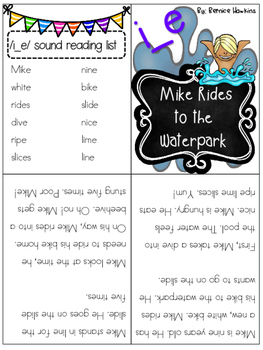 Magic E - i_e Mini Reader and activity worksheets