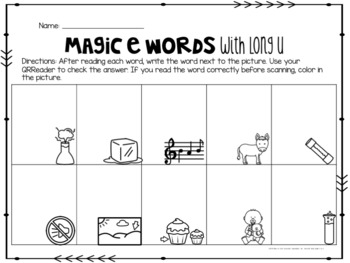 Magic E with Long U Words