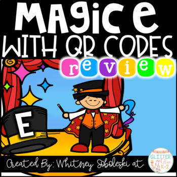 Magic E with QR Codes - Perfect for a Review!