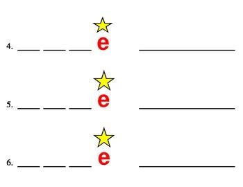 Magic E word Dictation