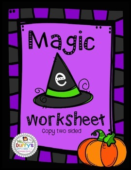 Magic E worksheet