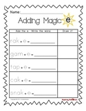Magic E/Silent E/CVCe Worksheet Bundle