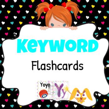 Magic Ears Level 1 Lesson YZ Printable Keyword Flashcards