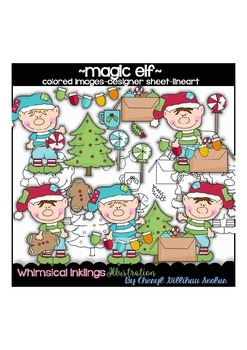 Magic Elf Clipart Collection