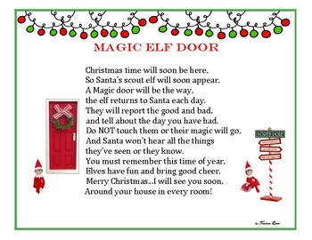 Magic elf door poem by teacherlane teachers pay teachers for The magic elf door