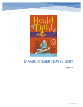 Magic Finger Novel Unit