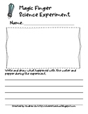 Magic Finger Science Experiment