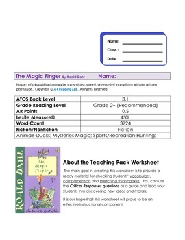 Magic Finger assessment Pack